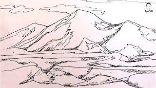 mountain easy draw