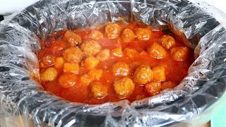 Easy Crock Pot Sweet and Sour Meatballs with Pineapples