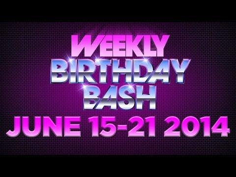 Celebrity Actor Birthdays - June 15-21, 2014 HD