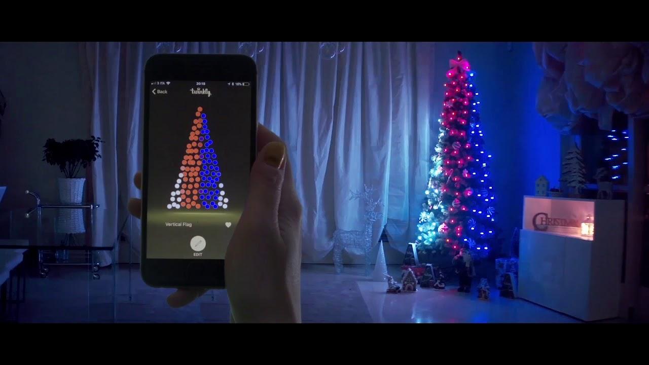 Treccia di luci controllabile via app led youtube