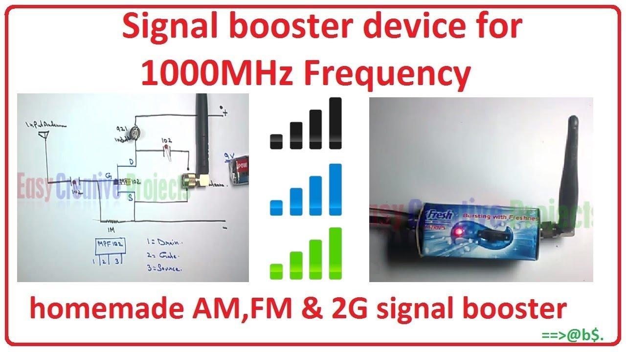 How To Make A Homemade Tv Signal Booster - Homemade Ftempo