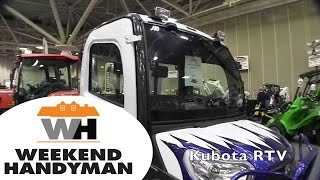 #KubotaUK Custom RTV X1100 All Terrain Vehicle: By John Young of the Weekend Handyman