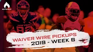 Week 6 Waiver Wire Pickups | Chase Edmonds, Jamison Crowder | 2019 Fantasy Football