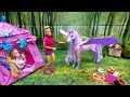 Barbie Doll Ride on The Magic Of Pegasus and Unicorn Disney Princess Toddlers Ride On Dream Unicorn