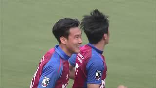 ナ サンホ(FC東京)が左サイド深い位置からのクロスを相手GKの前で合わ...