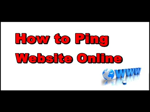 How to Ping A url Website Online