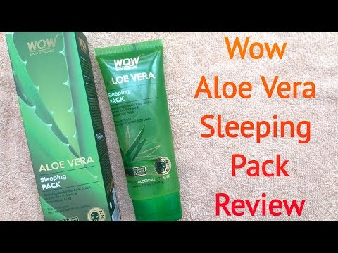 wow-aloe-vera-sleeping-pack-review//soft-smooth-&-glowing-skin