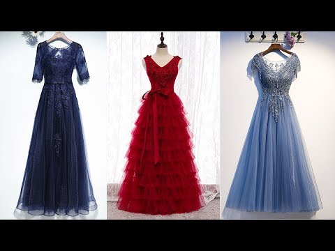 beading-evening-dresses-long-|-navy-blue-formal-dresses-|-high-low-prom-dresses