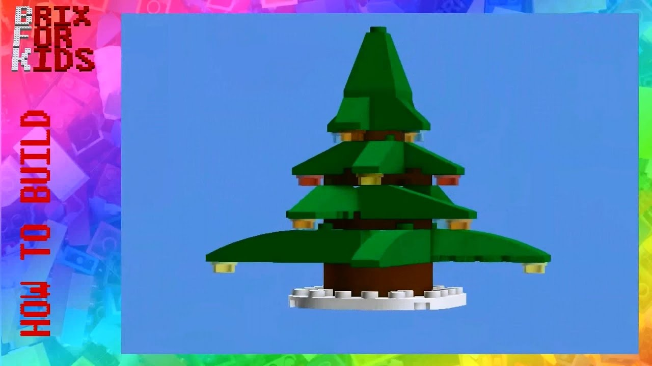 Lego Instructions How To Build A Simple Christmas Tree Version 3