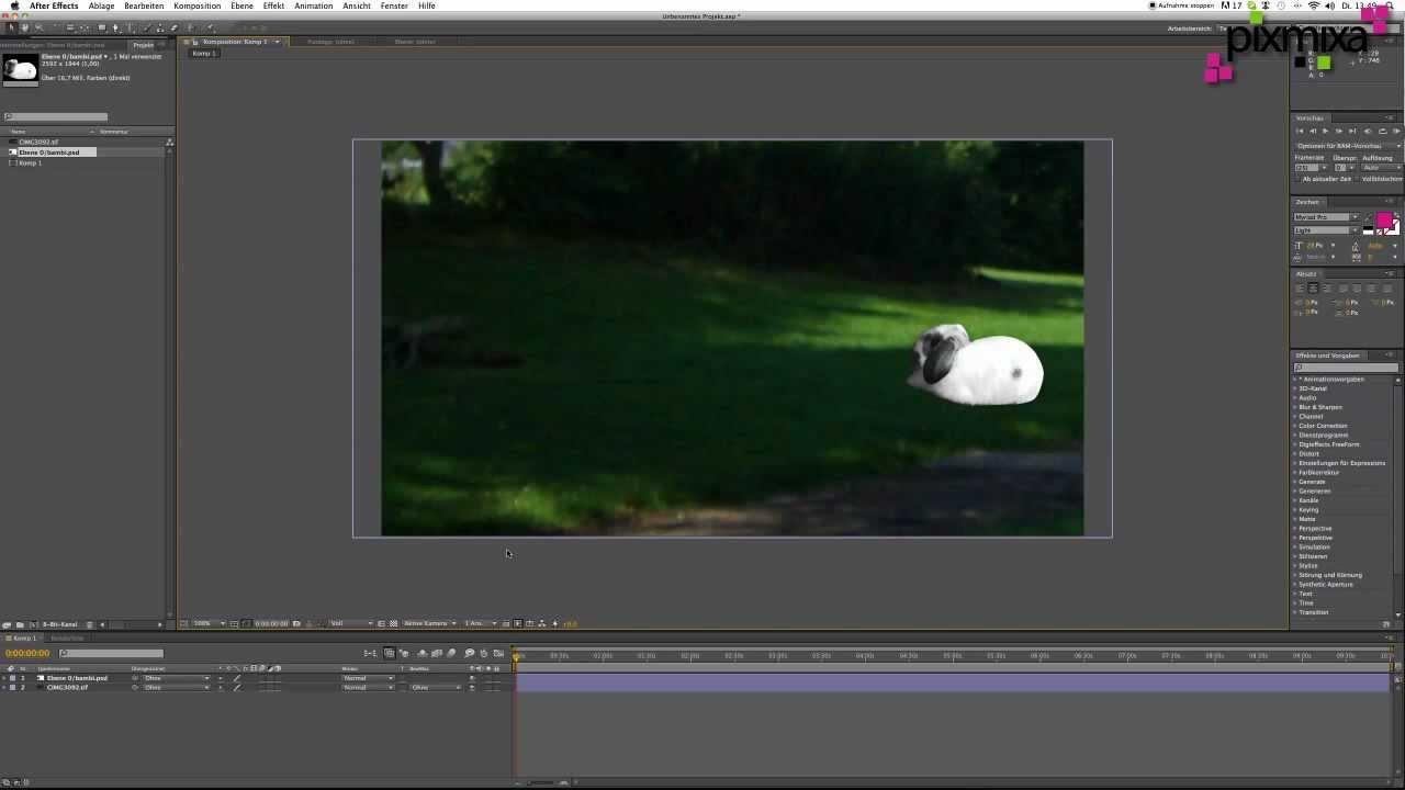 After Effects Tutorial footage (Dateien) importieren und verwenden ...
