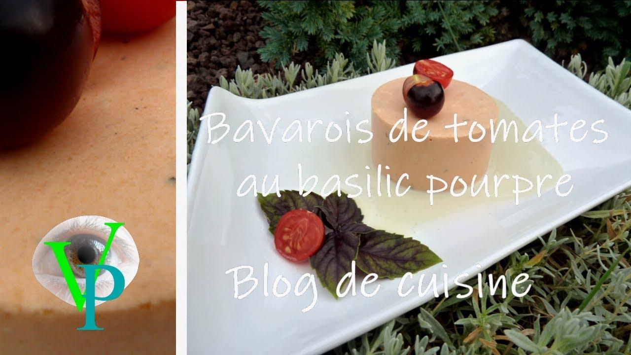 Le bavarois de tomate et basilic pourpre