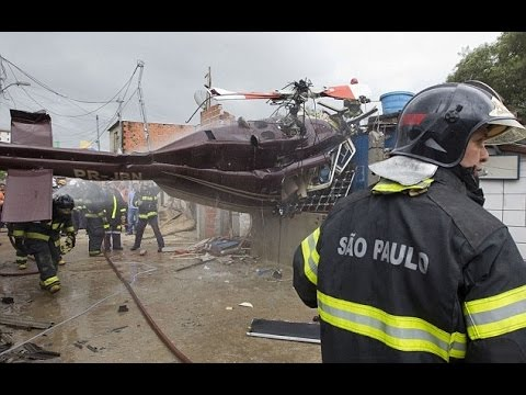 At least 4 dead when helicopter crashes in Brazil