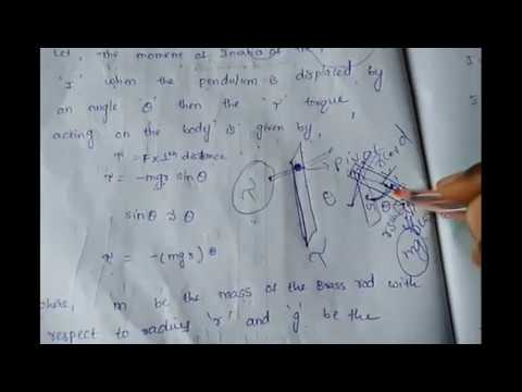 Compound Pendulum Physics 2nd Sem