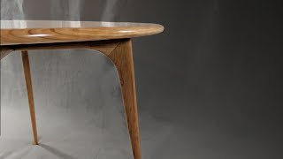 Building A Scandinavian Modern Round Table Or Is It Mid Century Modern   Woodworking