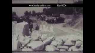 Bizerta (or Bizerte), Tunisia, soldiers in 1961 -- Film 90236