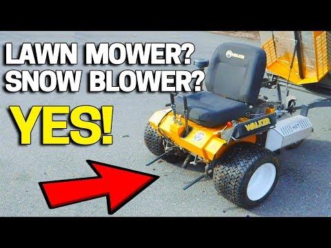 Walker Lawn Mower To Snow Blower Conversion