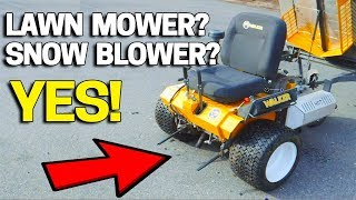 Lawn Mower turns into a Snow Blower