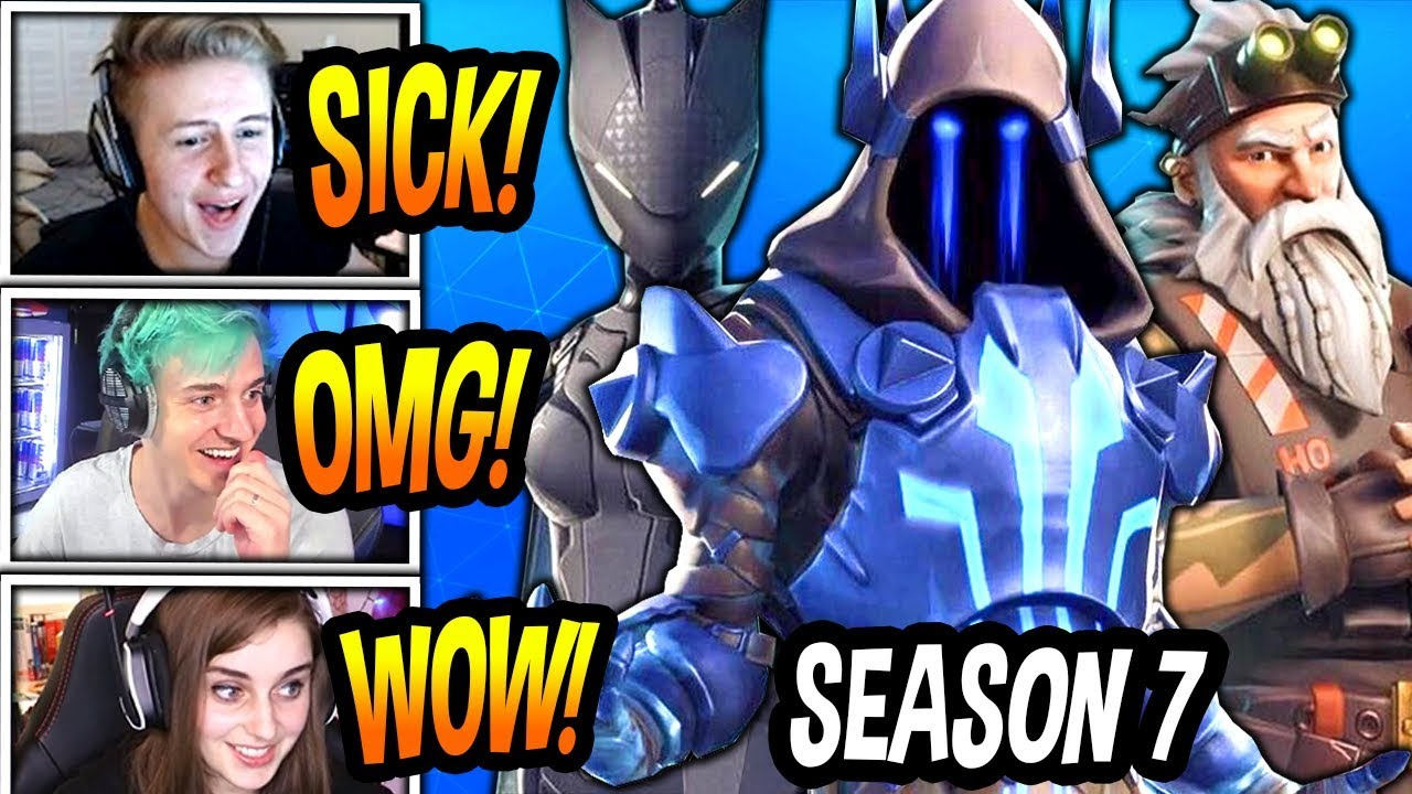 streamers-react-to-new-season-7-battle-pass-skins-leaked-fortnite-funny-epic-moments