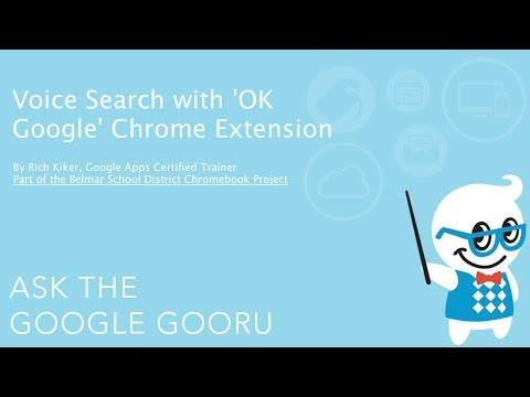 Voice Search with OK Google Chrome Extension - YouTube