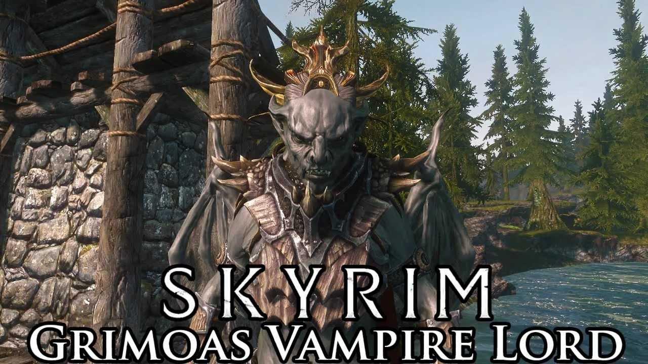 Skyrim Mod Spotlight Grimoas Vampire Lord Youtube