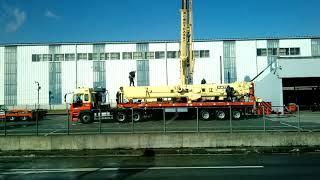 Перевозка большого крана трейлером