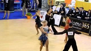WDSF Cambrils - European Latin 2012 - Quarter-final - Miha Vodicar & Nadiya Bychkova - samba