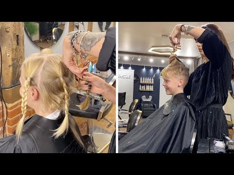 None - Boy, 9, teased for looking like a girl as he grew hair for cancer patients
