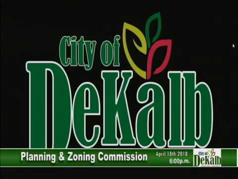 Planning and Zoning Commission Meeting April 18th. 2018