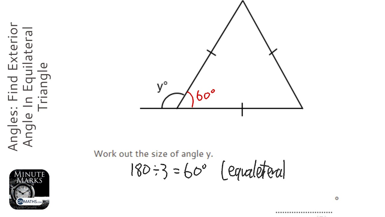 Angles find exterior angle in equilateral triangle grade - Triangle exterior angle theorem proof ...