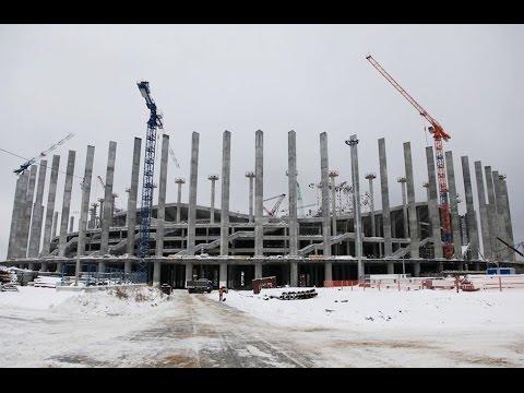 Завершено возведение 88 трехгранных колонн «Стадиона Нижний Новгород»