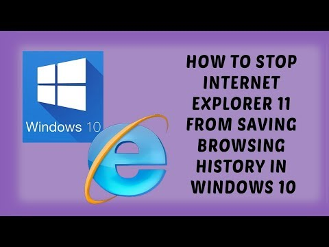 How to STOP Internet Explorer 11 from Saving Browsing History in Windows 10   Tutorials In Hindi
