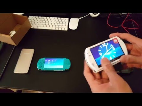 PSP GO Unboxing+Comparison Between Psp 3000 And Ps Vita