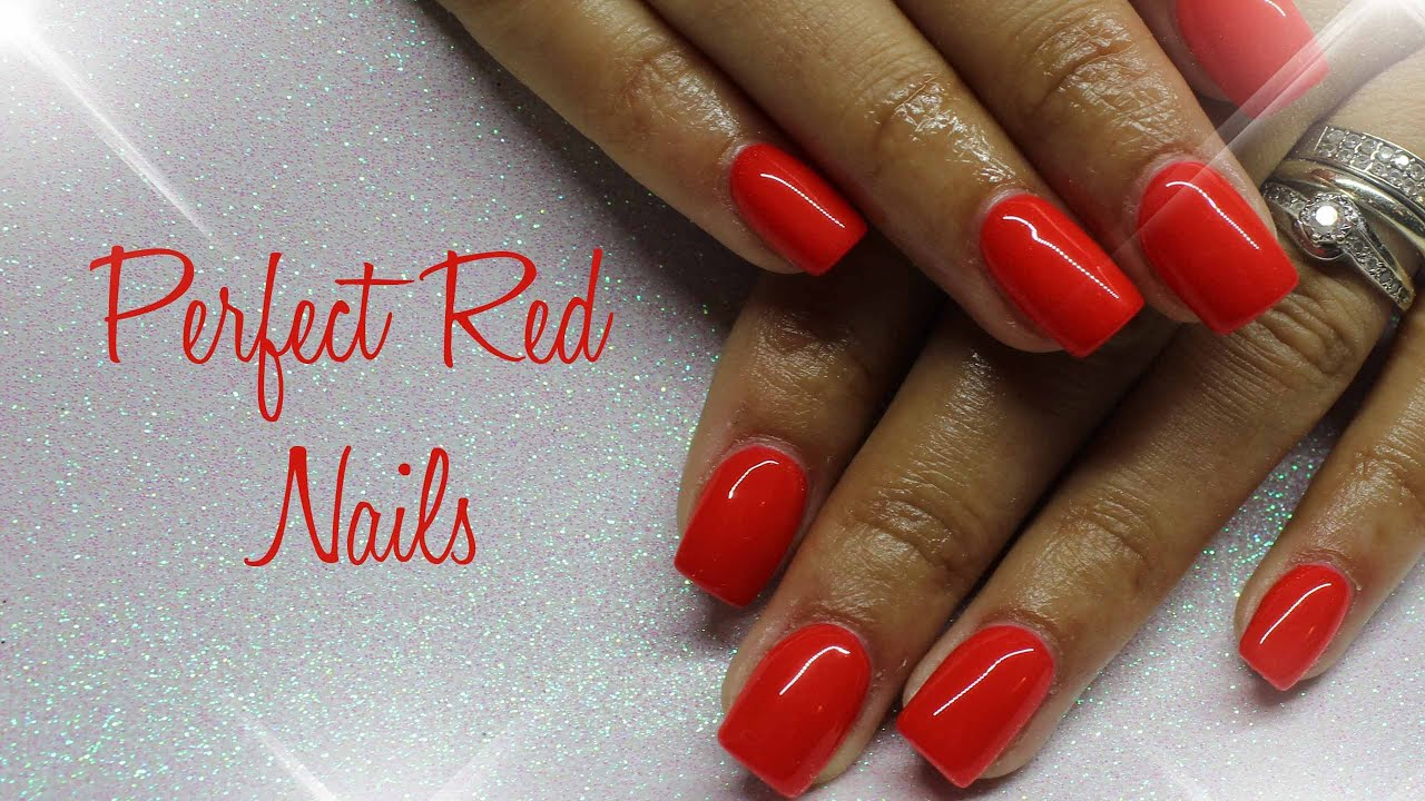 Perfect Red Nails Gel Uk