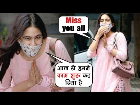 Sara Ali Khan spotted at Aanand L Rai's office l Sara Ali Khan l Coolie No.1 l Sara Ali Khan Video