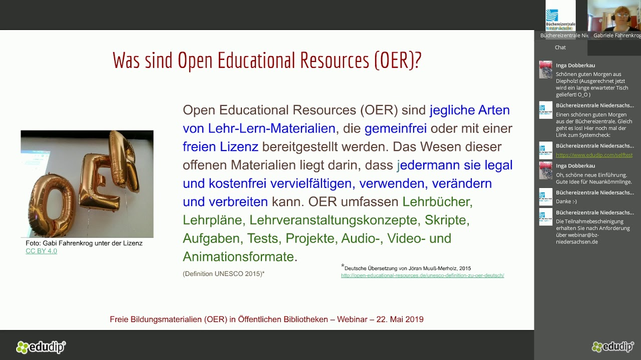 Webinar Open Educational Resources In öffentlichen Bibliotheken