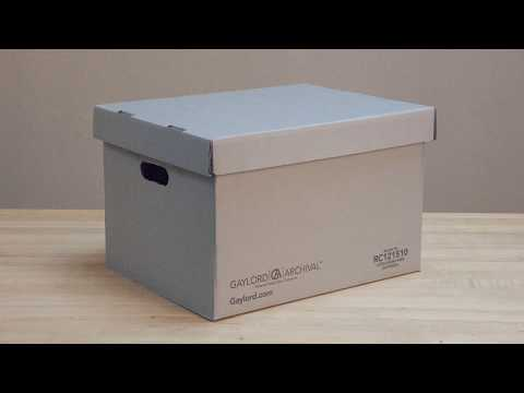 Assembly Instructions: Record Storage Carton with Separate Lid