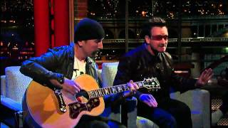 U2 Bono & The Edge Perform 'Stuck In a Moment' on David Letterman 2...