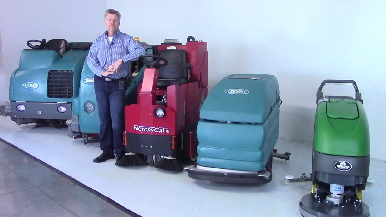 Scrubber Sweeper Rental Program FCE YouTube - Warehouse floor scrubber rental