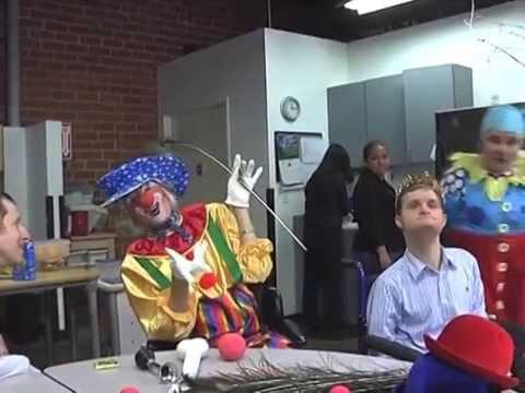 Julie Newmar & son's birthday party - clownin' uh-roun'