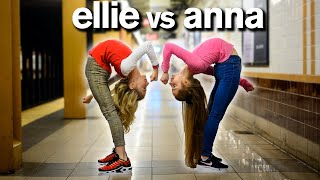 WHO'S MORE FLEXIBLE?? Dance Moms Elliana Walmsley vs Anna McNulty ACRO CHALLENGE