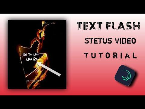 How to make Flash text status video | status video kaise banye | OMI  H