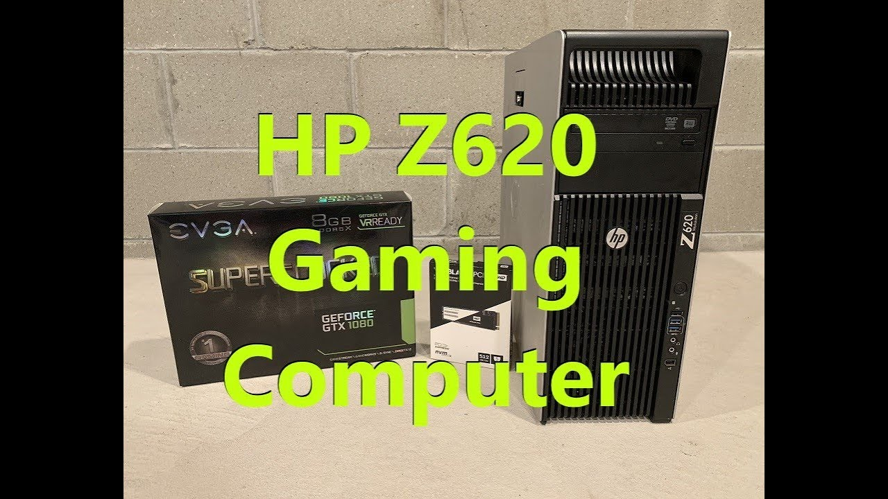 HP Z620 Gaming Computer and Overview (NVME 2 and GTX 1080 install)