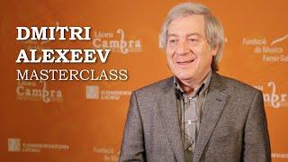 Masterclass amb Dmitri Alexeev - Cicle Liceu Cambra