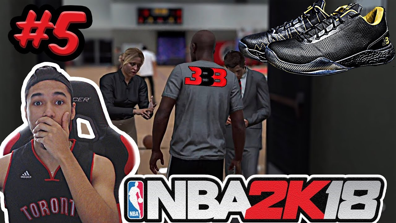NBA 2K18 MyCAREER PT. 5 | BIG BALLER BRAND SHOE DEAL & NBA CONTRACT!!!