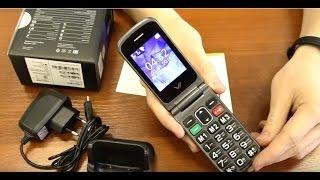 """Обзор мобильного телефона Vertex C304 в корпусе """"раскладушка"""""""