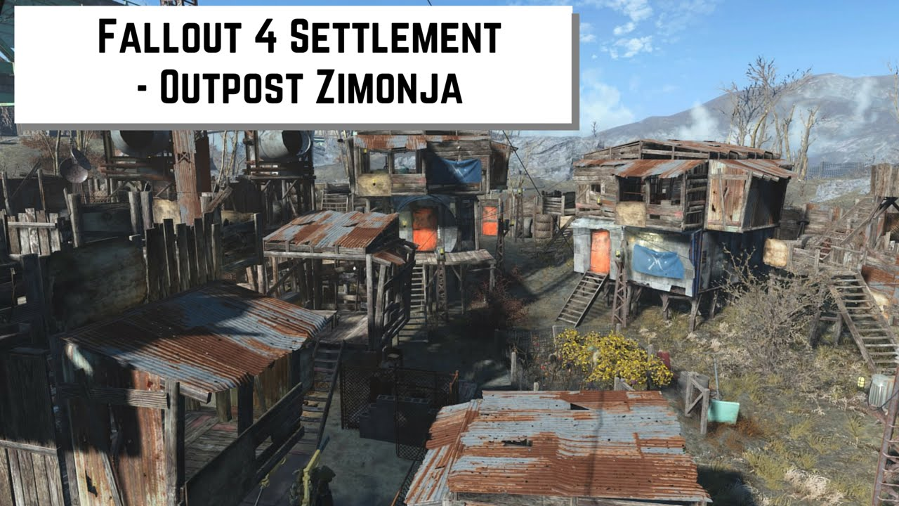Fallout 4 settlement outpost zimonja youtube for Best house designs fallout 4