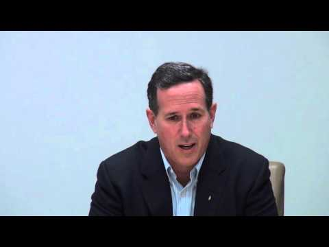 Rick Santorum on why he's the choice for president