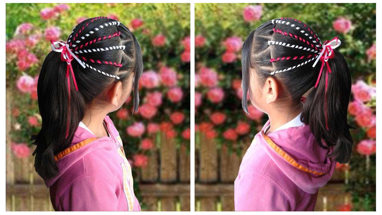 Peinados de ni a con liston youtube - Peinados para ninas faciles de hacer ...