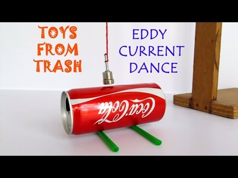Eddy Current Dance | English | Move a can without touching it