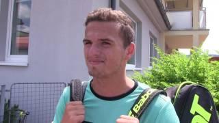 Ondřej Krstev po prohře ve čtvrtfinále na turnaji Futures v Ústí n. O.